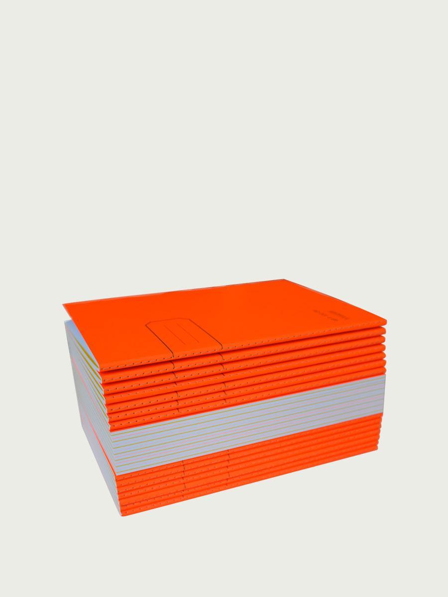 Fluo orange notebooks