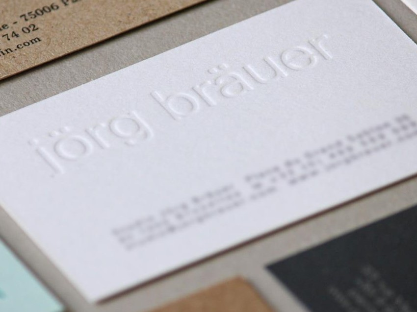 letterpress embouti