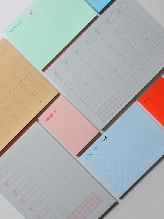 Notepads to stay organised